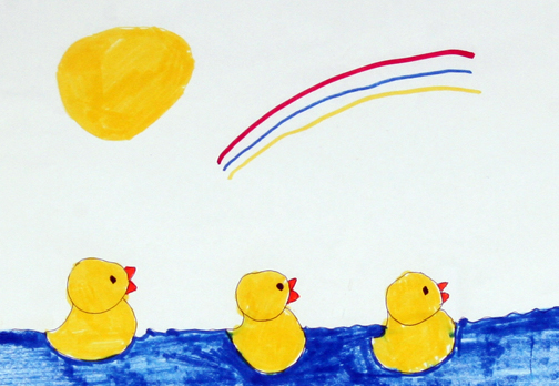 "Visual Voices: ""Ducks Swimming in Water"" by Christina Coons"