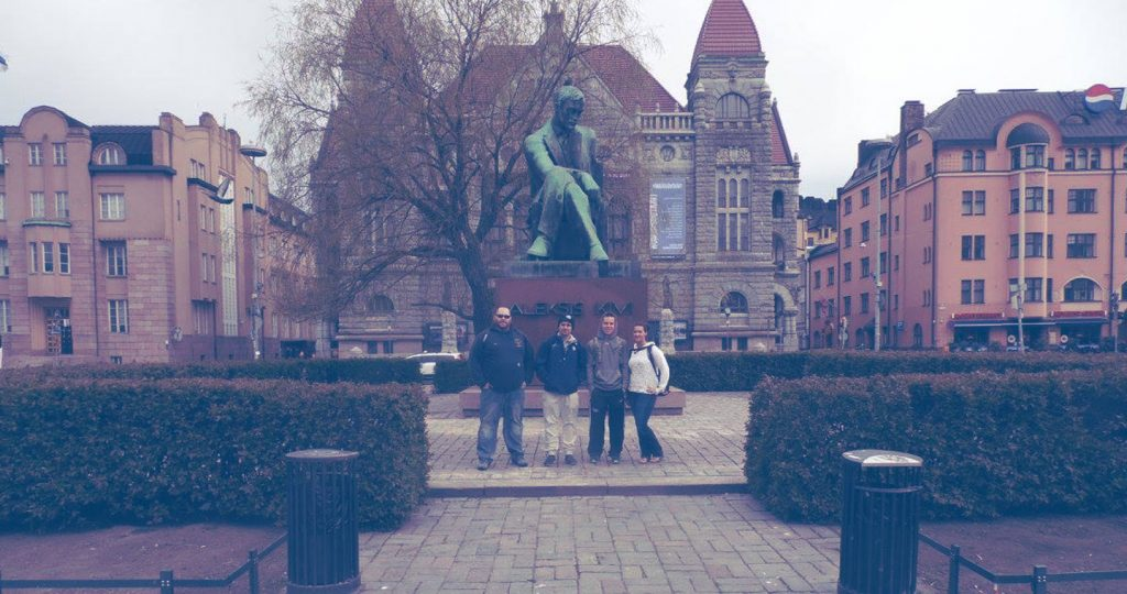 Students during Criminal Justice trip to Europe.