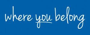Where you belong Tagline Blue BG