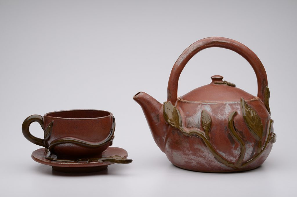Ceramic Flameware Teapot and Cup
