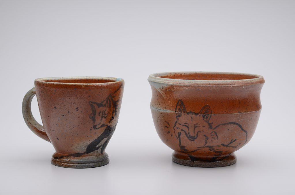 Ceramic Fox Cups