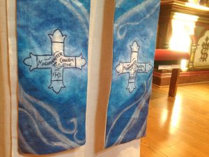 Fiber Arts Artist Emily Pierce Chasuble and Stole set for Daughters of the King