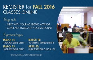 Fall 2016 Online Registration