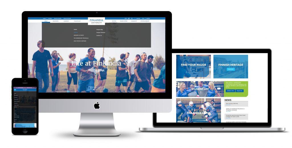 Finlandia Website Responsive Mockup