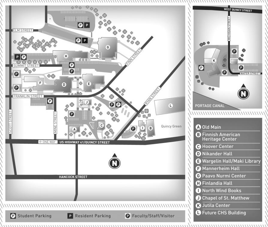 Main Campus Map Finlandia University Finlandia University
