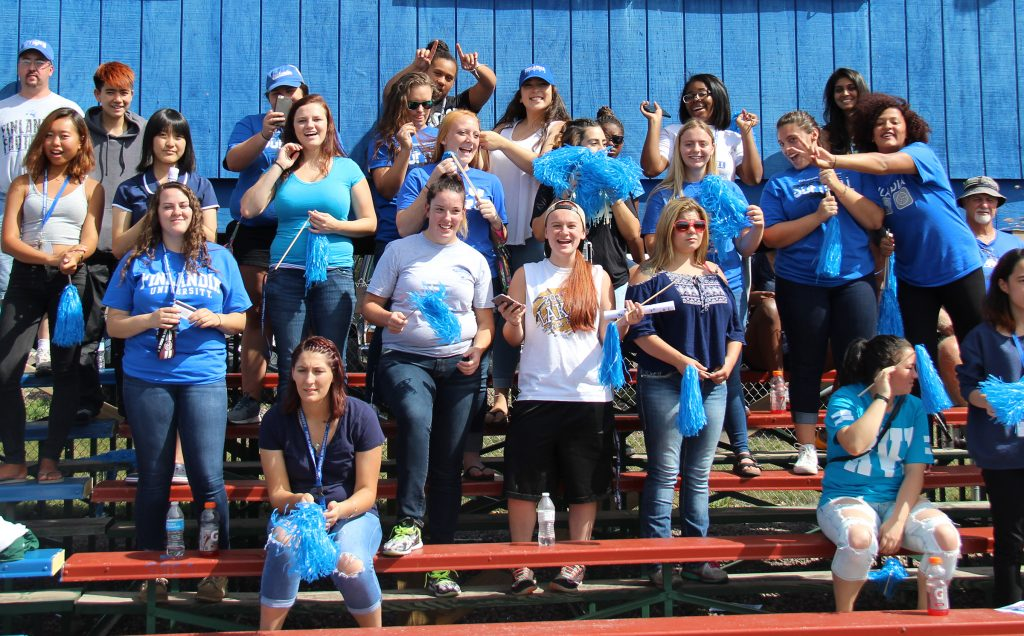 The student section