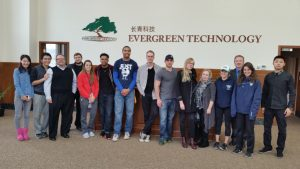FinnU Students at Evergreen Technologies
