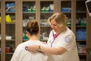 A Finlandia nursing student honing her trade at Aspirus Clinic