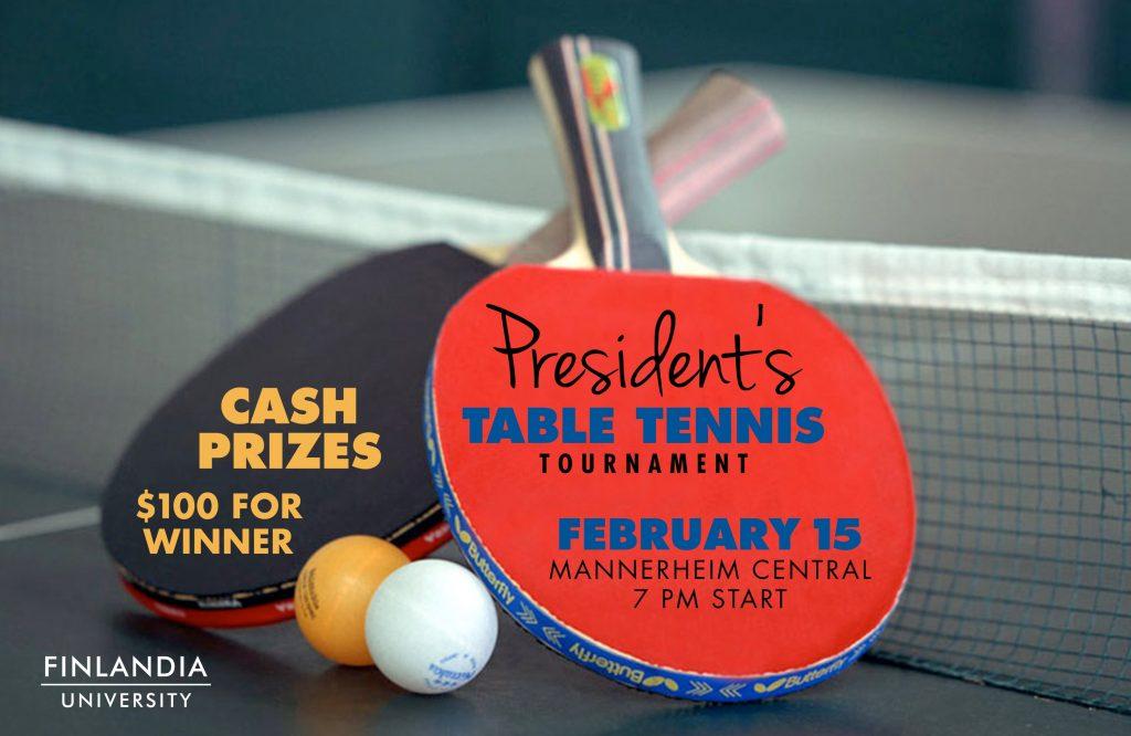 Presidents Table Tennis Tournament