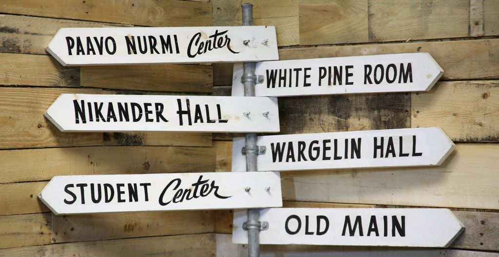 Vintage Suomi College Directional Sign