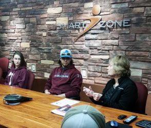 Entrepreneurship students recently visitied the MTEC SmartZone and discussed the qualities of successful entrepreneurs and intrapreneurs met with CEO Marilyn Clark.