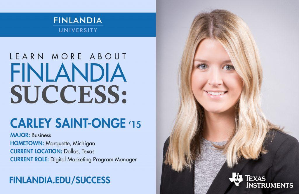 Finlandia Success Carley Saint-Onge