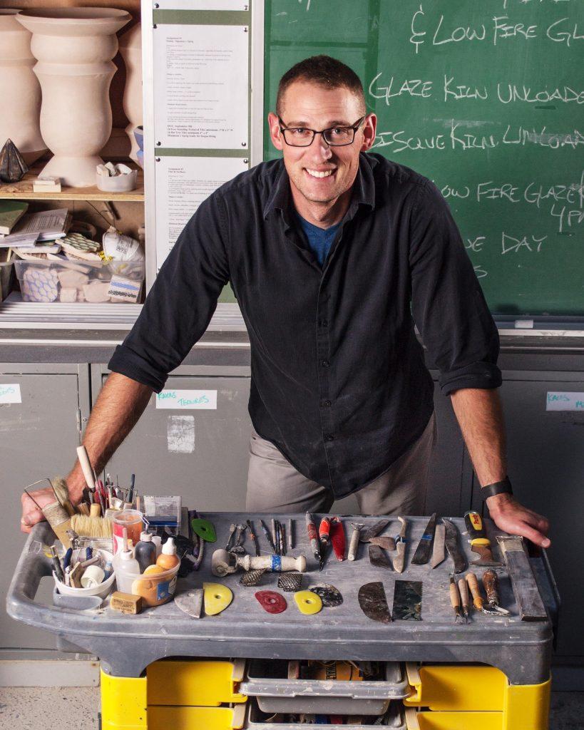 Ceramic Artist Brian Kakas in his Studio