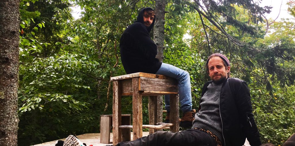 Artists Martin Schick and Mirko Winkel on Rabbit Island