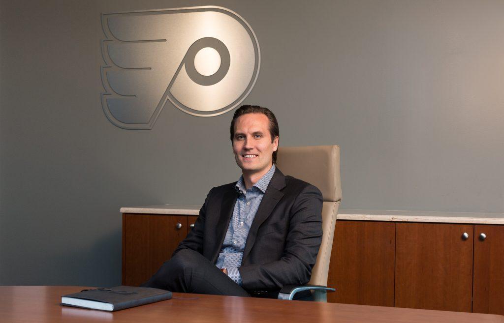 Ilkka Kortesluoma in the Flyers corporate office