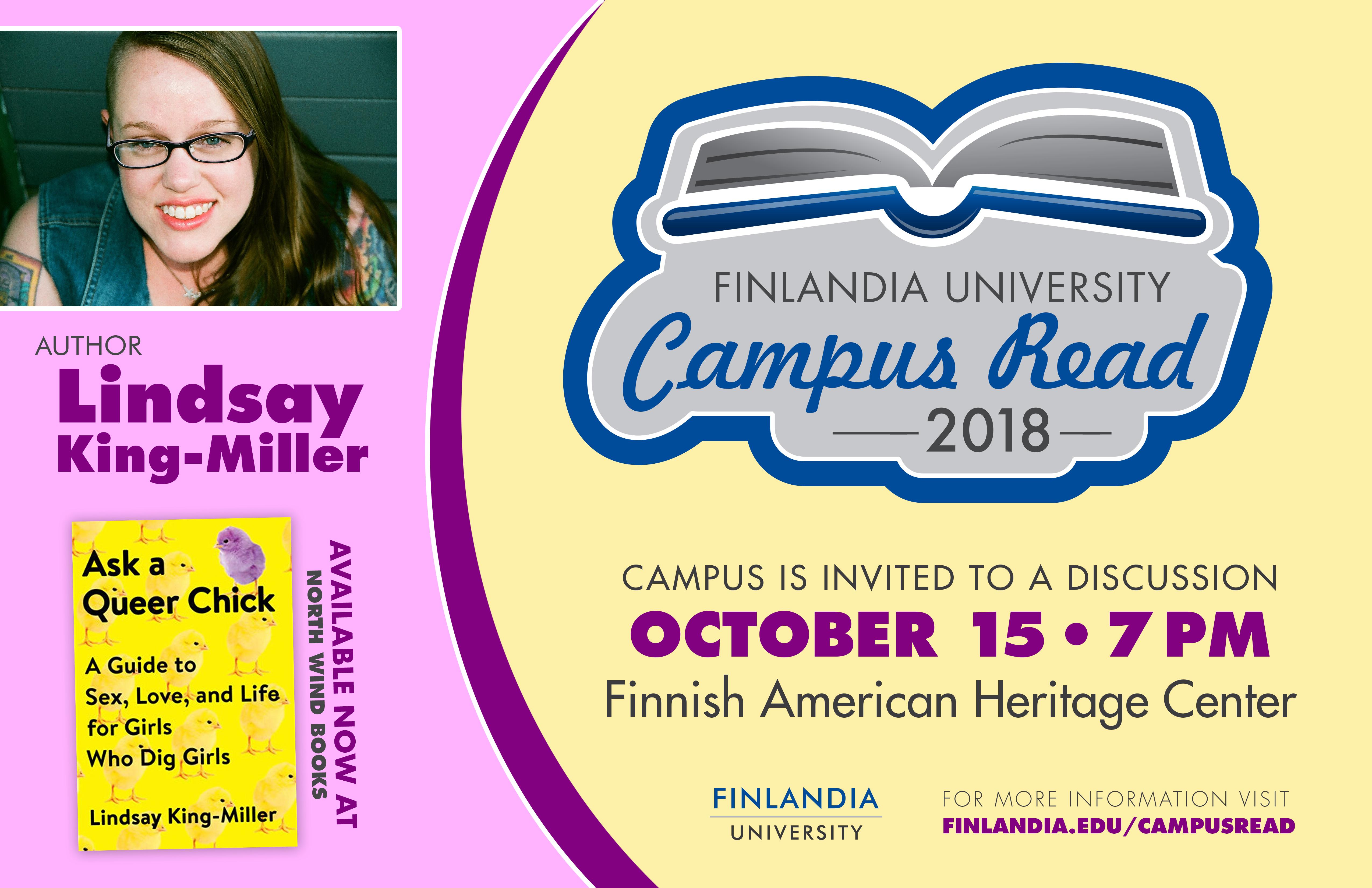 Campus Read Lindsay King-Miller