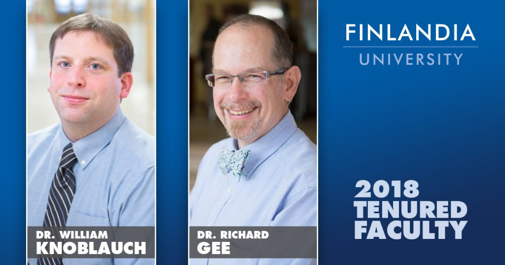 Dr. William Knoblauch and Dr. Richard Gee Tenured at Finlandia University