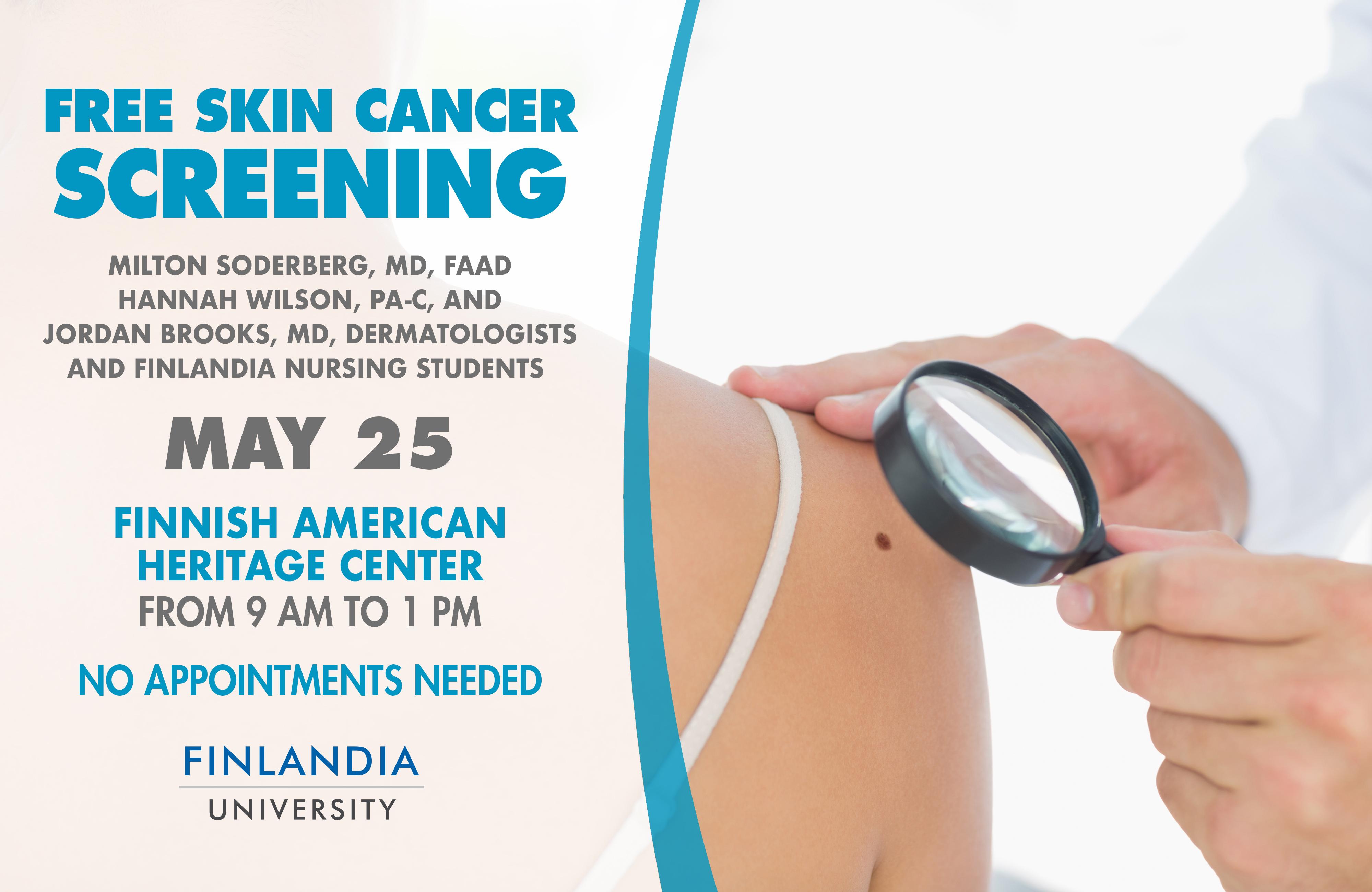 free skin cancer screening near me 2019