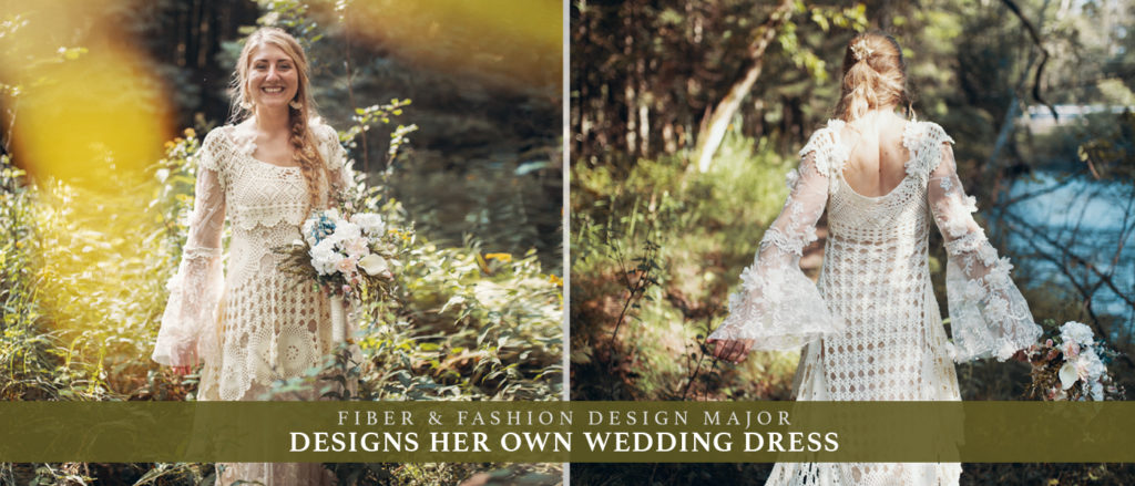 Finlandia University Art Student Designs Wedding Dress