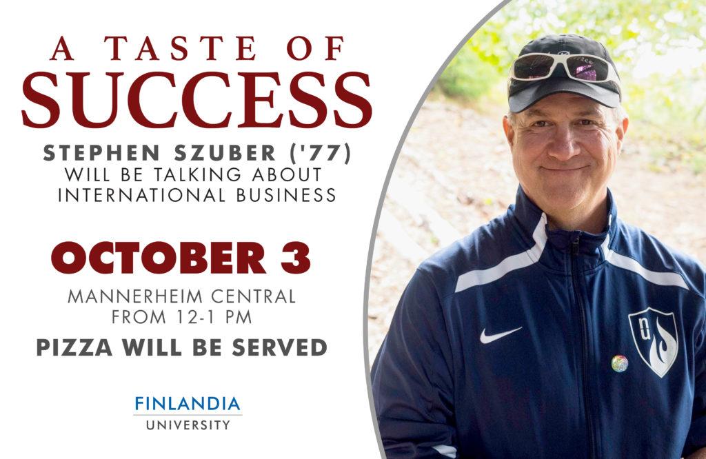 Taste of Success Stephen Szuber