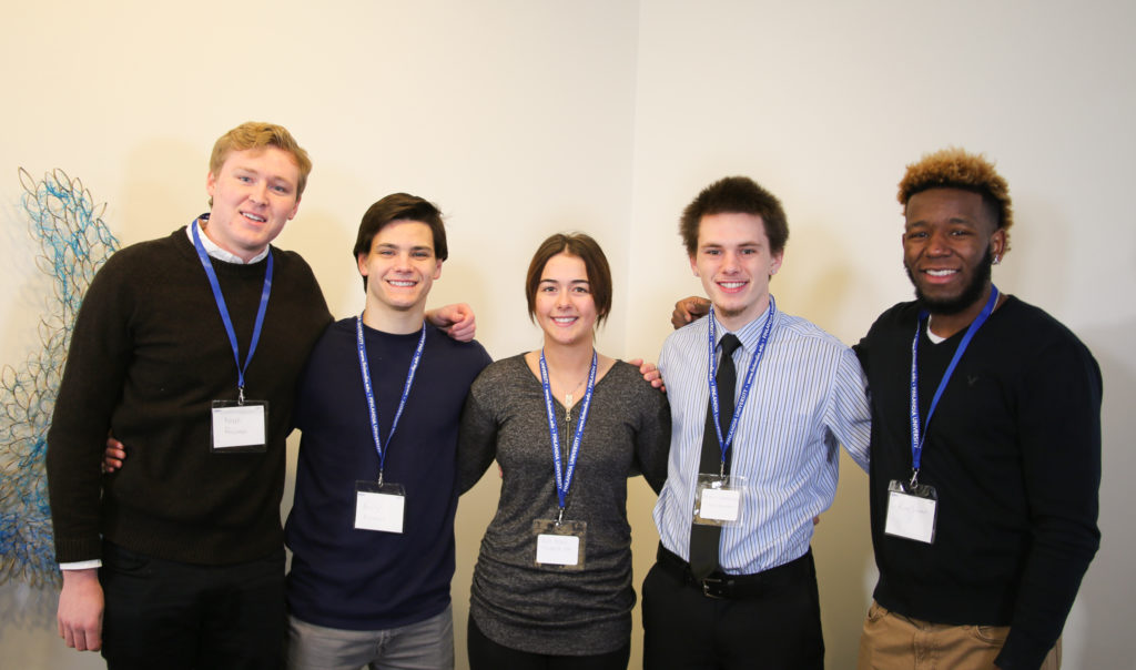 Business Professional's of America Group of five students smiling