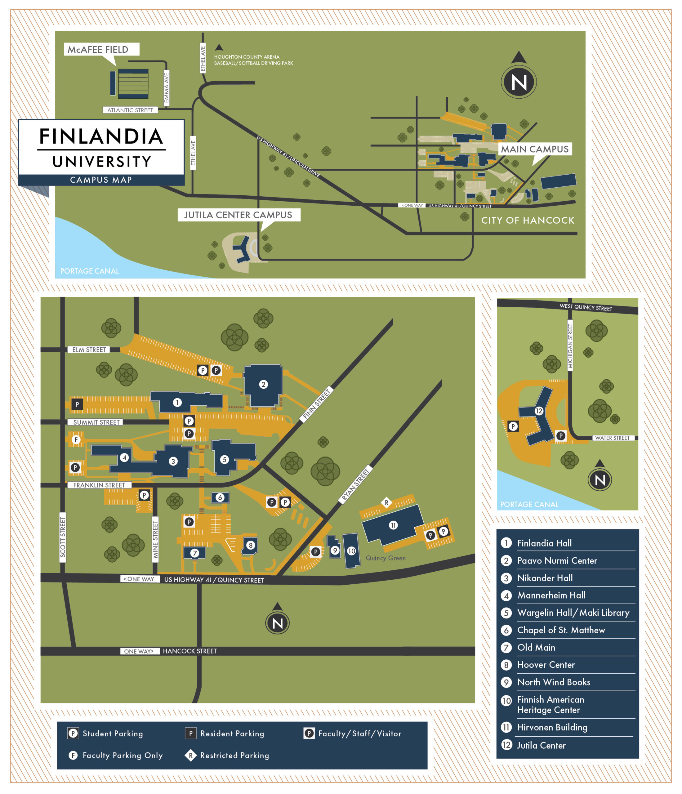 Finlandia Campus Map